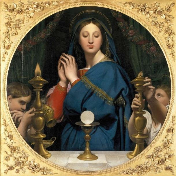 Vierge à l'hostie_ean-Auguste-Dominique Ingres