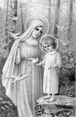 Nossa Senhora com menino